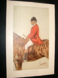 Vanity Fair Print 1899 William Ward Tailby, Fox Hunter